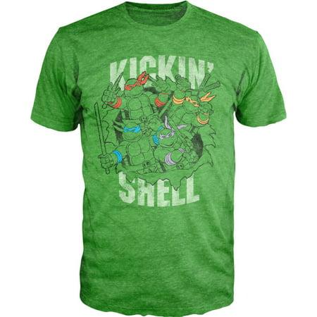 Teenage Mutant Ninja Turtles Kicking Shell T-Shirt Large](Ninja Turtle Shell Shirt)