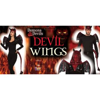 Demons And Devils Wings Halloween Costume Accessory - Demon Costume Wings