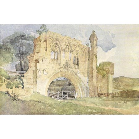 Painting in Water-colours 1918 Kirkham Abbey Poster Print by  John Sell Cotman ()