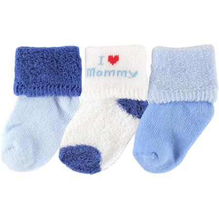 4ac31cc4b20 Luvable Friends - Terry Cloth Roll Cuff Crew Socks