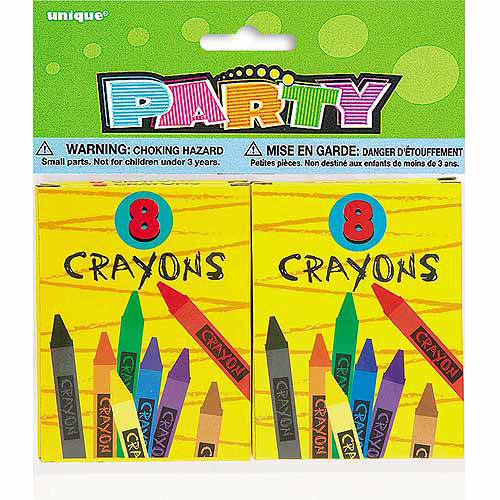 Crayon Party Favors, 4-Count