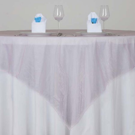 Efavormart Pack of 5 Rose Quartz Organza Table Overlay 72