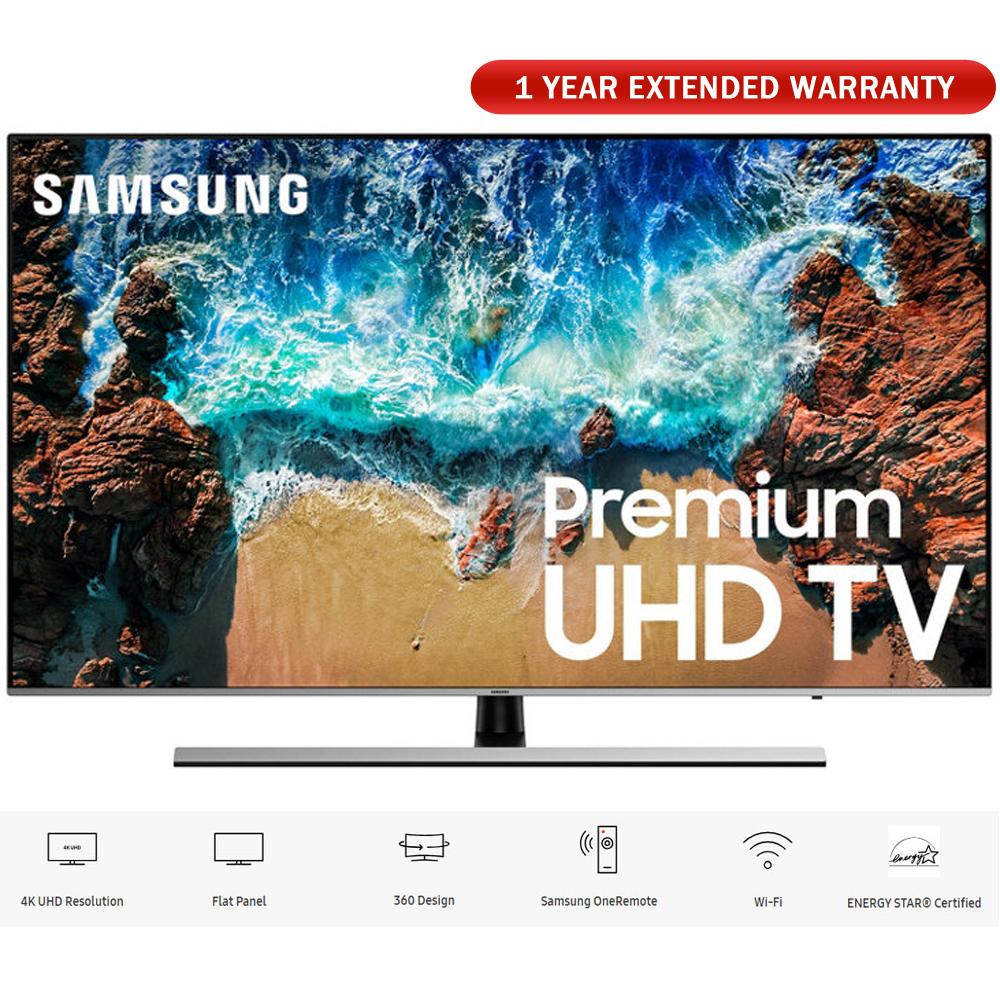 "Samsung UN65NU8000 65"" Class NU8000 Premium Smart 4K Ultra HD TV 2018 (UN65NU8000FXZA) with 1 Year Extended Warranty"