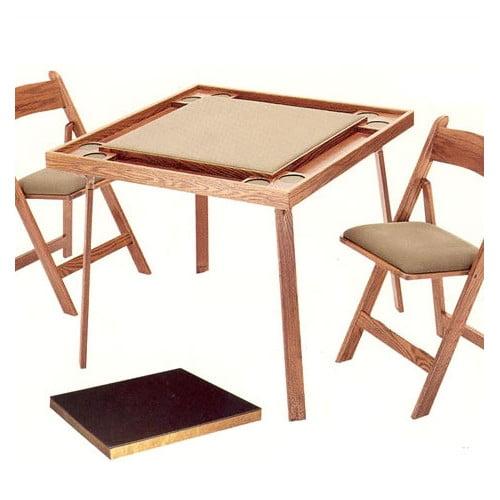 Kestell Furniture 35'' Oak Folding Cards Table