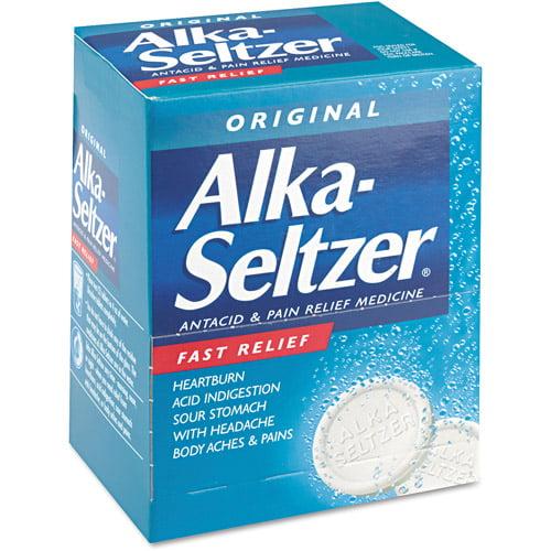 Alka-Seltzer Original Antacid & Pain Relief Medicine, 50 count