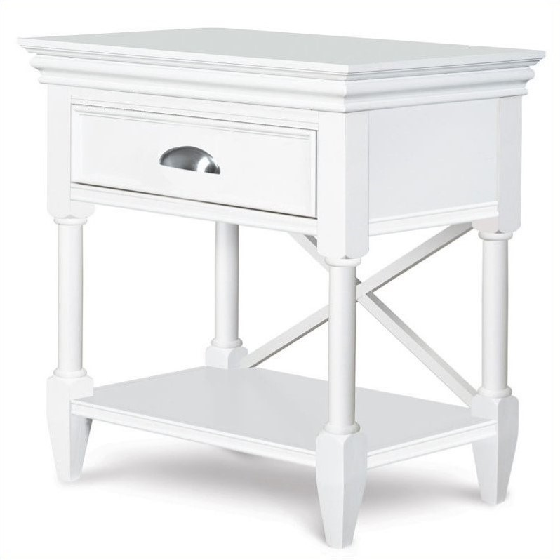 Beaumont Lane Open Nightstand in White