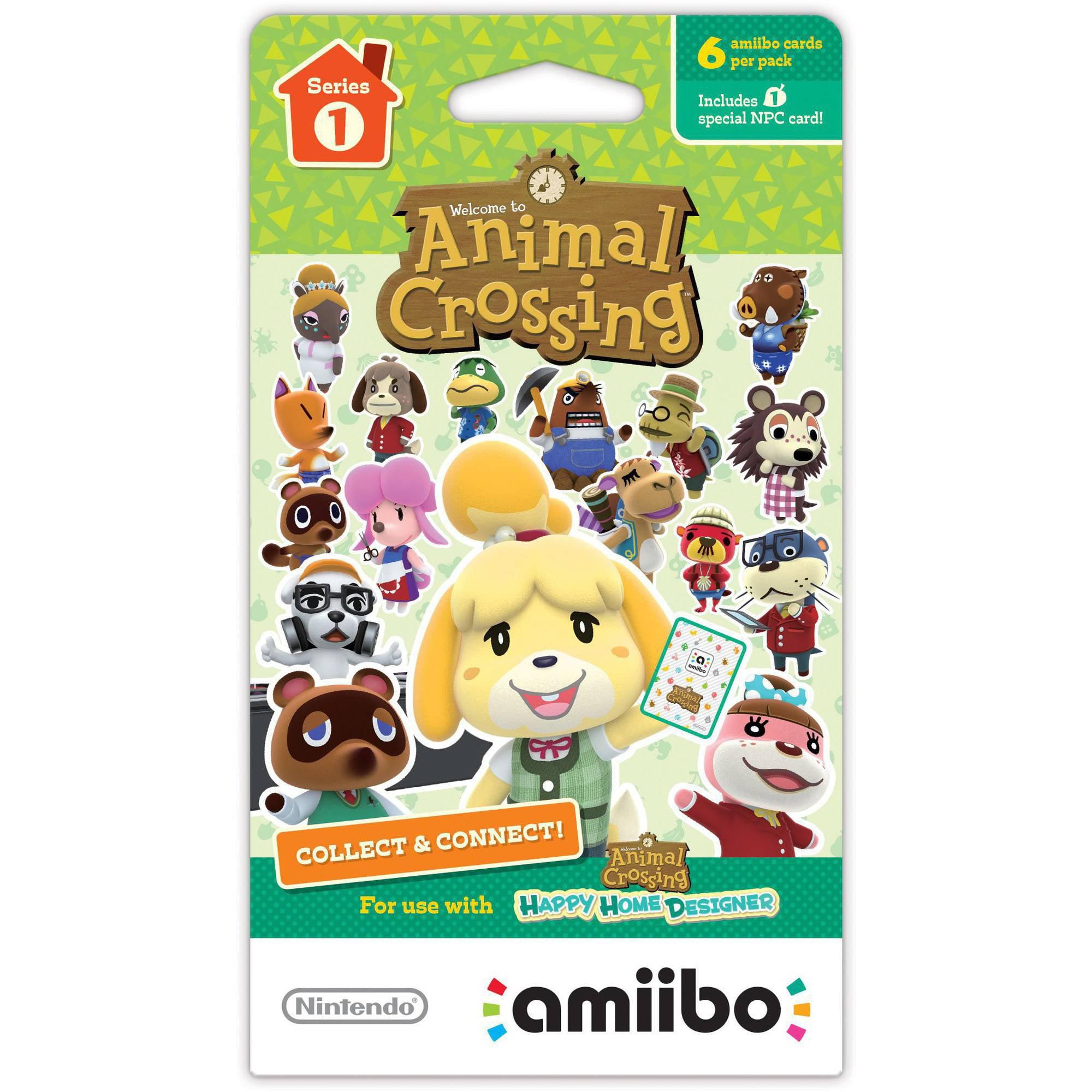 Animal Crossing amiibo Cards 6-Pack Series 1 (Nintendo WiiU or New Nintendo 3DS)