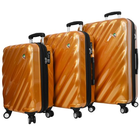 Mia Toro Onda Fusion 3 Piece Hardside Spinner Travel Suitcase Luggage Set