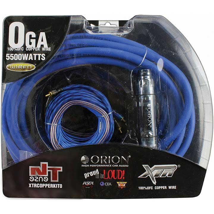 Orion XTR 0 Gauge Amp Kit 100% Copper