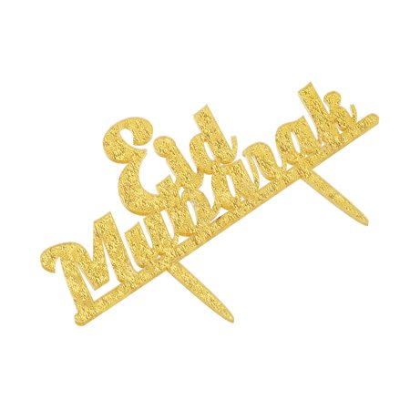 Features:1. Happy Ramadan Eid Mubarak Cake Topper Glitter Cake Topper Hajj Mubarak Cake Decor2. Complete with food safe skewer/s, ready to put straight into your cake.3. Ensuring its perfect for yo - image 1 de 6