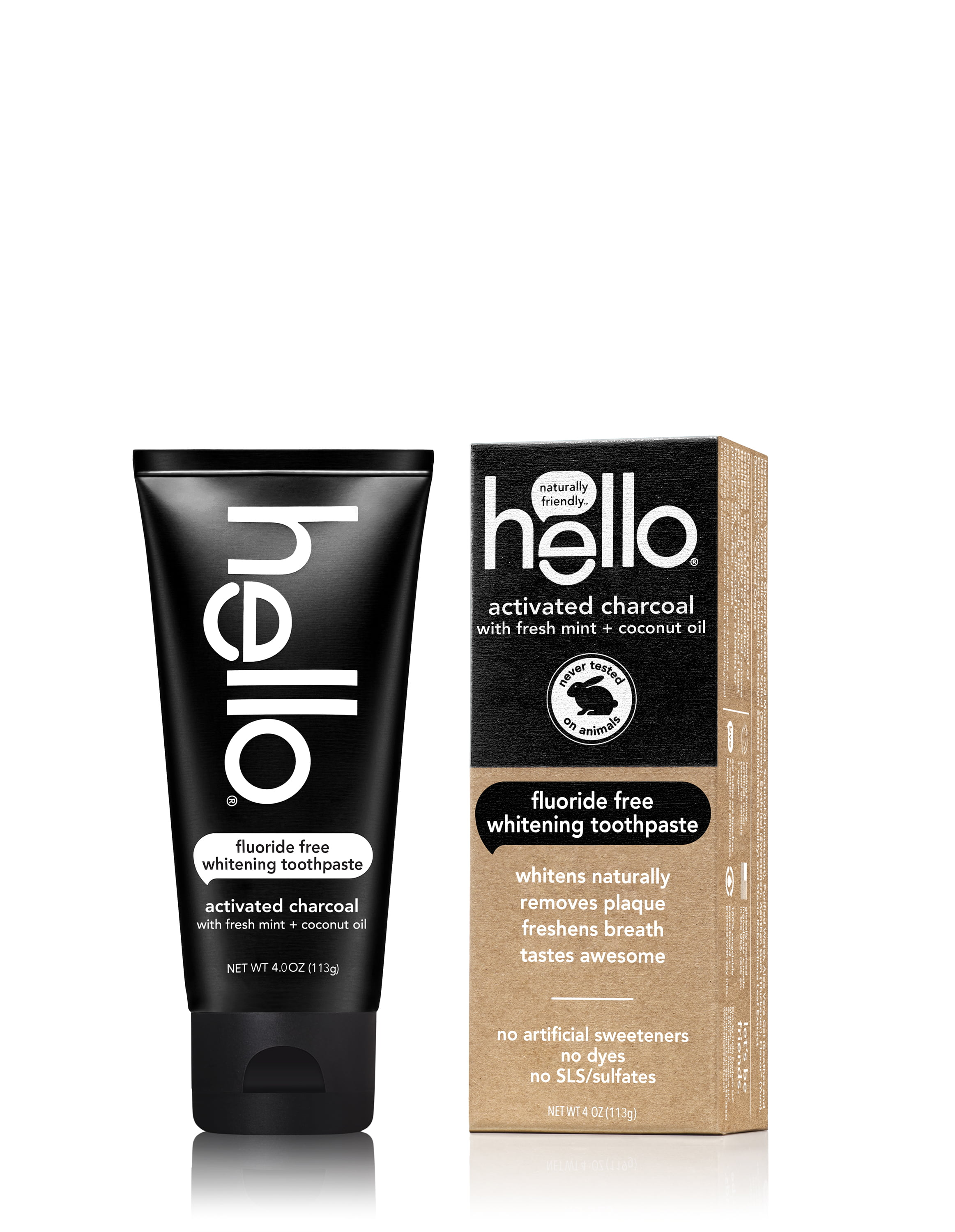 hello activated charcoal fluoride free whitening toothpaste