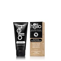 Hello Oral Care Activated Charcoal Teeth Whitening Fluoride Free Toothpaste 4 Ounce