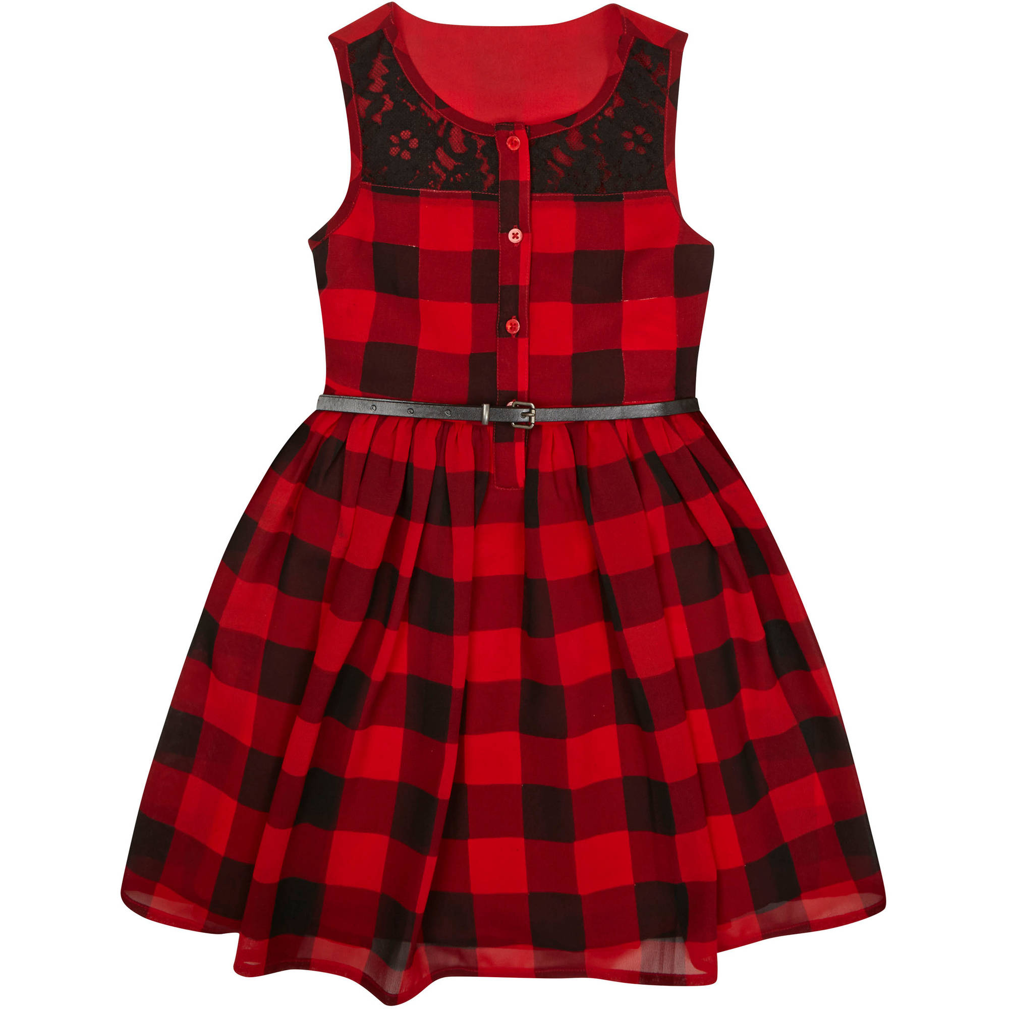 George Girls Belted Dress - 5