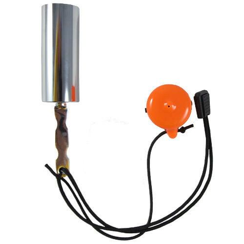 Scuba Choice Scuba Diving Safety Tank Rattle Stick Signal Bell, Orange