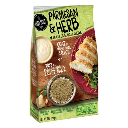 Tomato Chicken Parmesan ((2 Pack) The Good Table Parmesan and Herb Sauce and Crust Mix For Chicken, 7 oz )