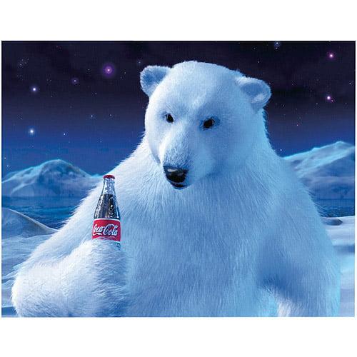"Trademark Fine Art ""Polar Bear with Coke Bottle"" Giclee Canvas Art"