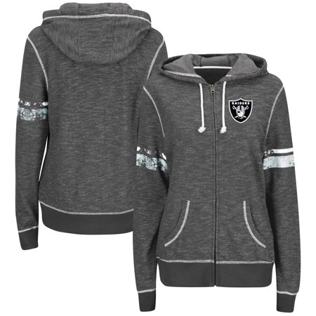 Oakland Athletics Case (Oakland Raiders Majestic Women's Plus Size Athletic Tradition Full-Zip Hoodie - Charcoal )