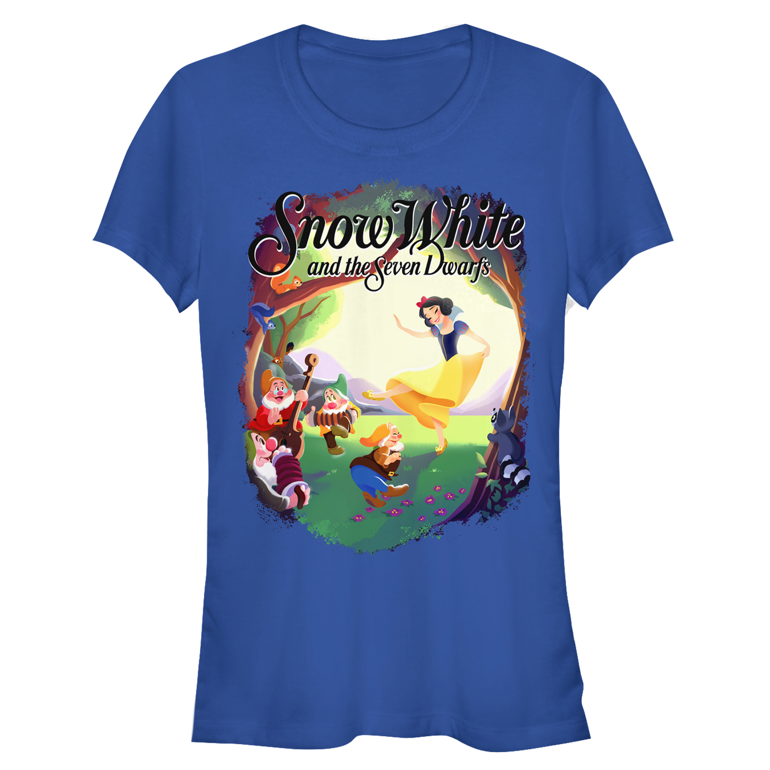Snow White and the Seven Dwarves Juniors' Dance Scene T-Shirt