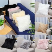 Decorative Throw Pillow Cover 18''X18'' Faux Fur Fluffy Plush Decorative Pillowslip Pillowcase Protecter for Car Sofa Bedroom Home Decor