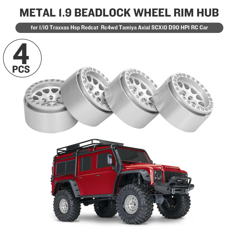 4PCS Metal 1.9 Beadlock Wheel Rim Hub fr 1//10 Traxxas Redcat D90 HPI RC Car U6P5