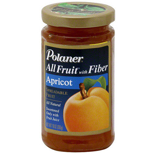 Polaner All Fruit Apricot Spreadable Fruit With Fiber, 10 oz (Pack of 12)
