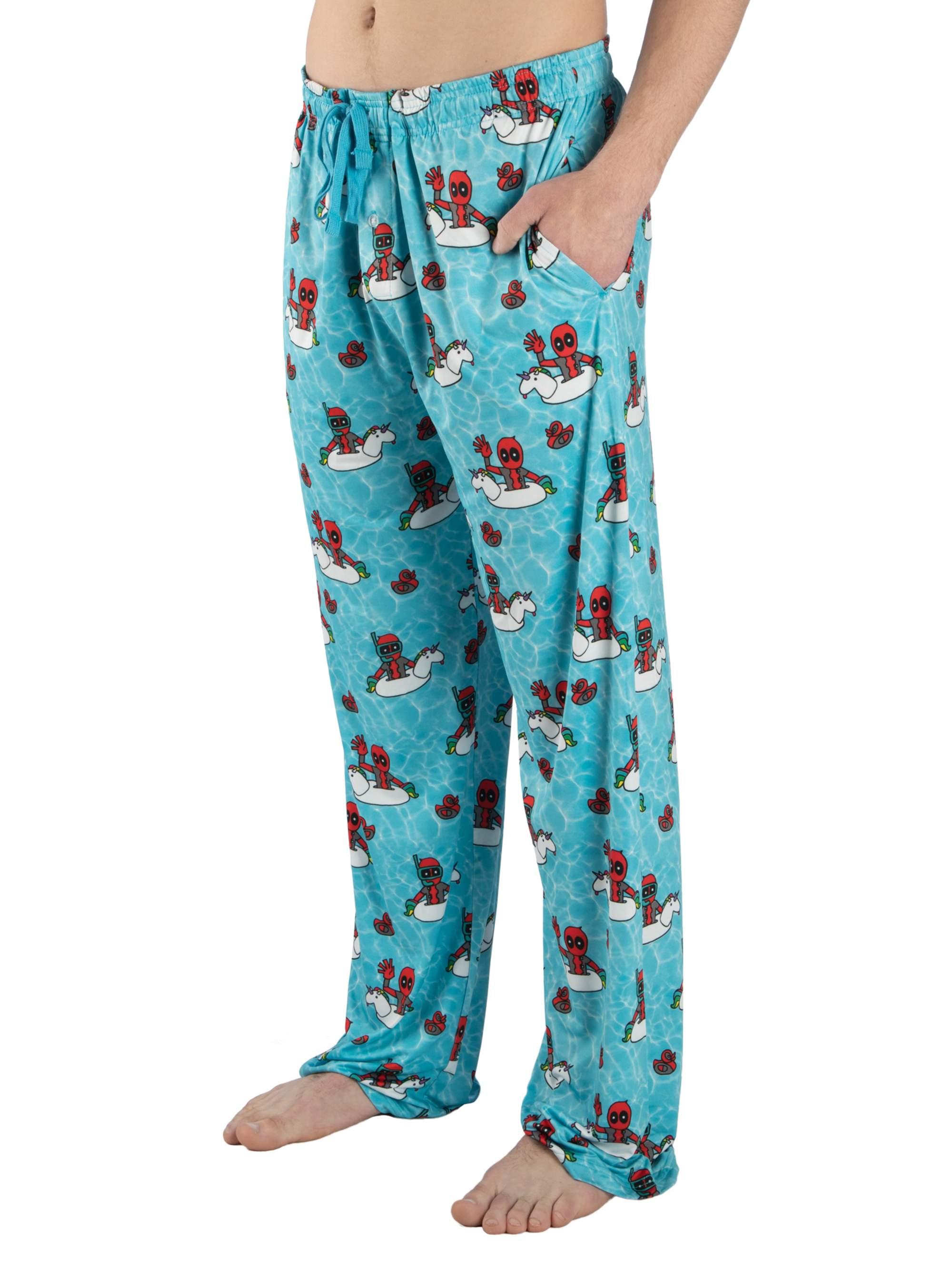 Marvel Men's Deadpool Comic Print Pajama Lounge Pant