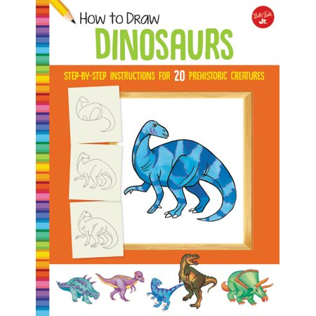 How to Draw Dinosaurs : Step-by-step instructions for 20 prehistoric creatures - Halloween Creatures Draw