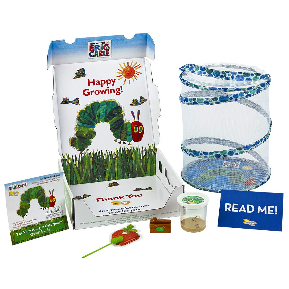 Insect Lore World of Eric Carle, The Very Hungry Caterpillar Butterfly Growing Kit with Live Caterpillars by Insect Lore