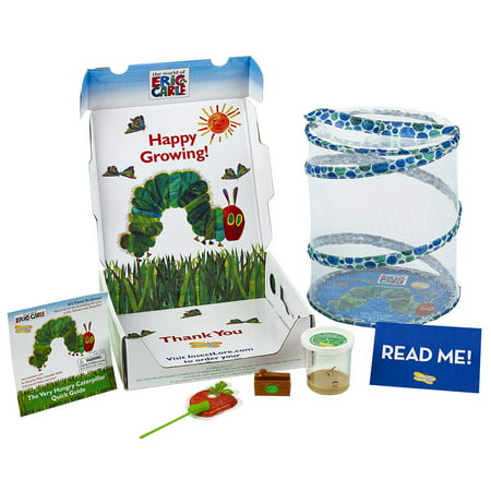 Insect Lore World of Eric Carle, The Very Hungry Caterpillar Butterfly Growing Kit with Live