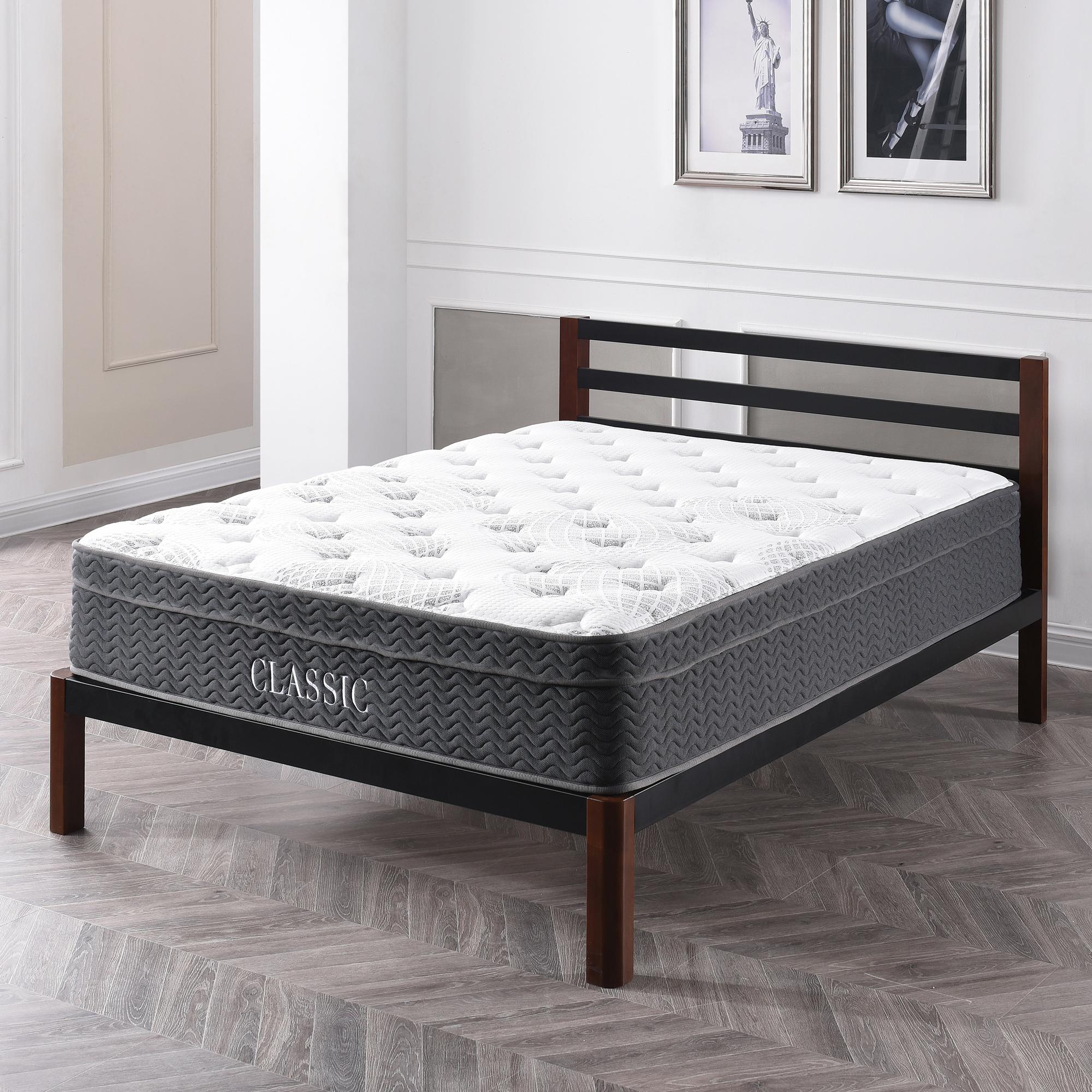 Modern Sleep Celadon Hybrid Latex and Innerspring 12-Inch Mattress, Multiple Sizes