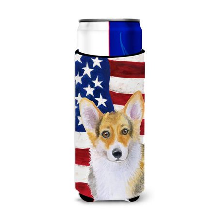 Carolines Treasures BB9642MUK Pembroke Corgi Patriotic Michelob Ultra Hugger for Slim Cans - image 1 de 1
