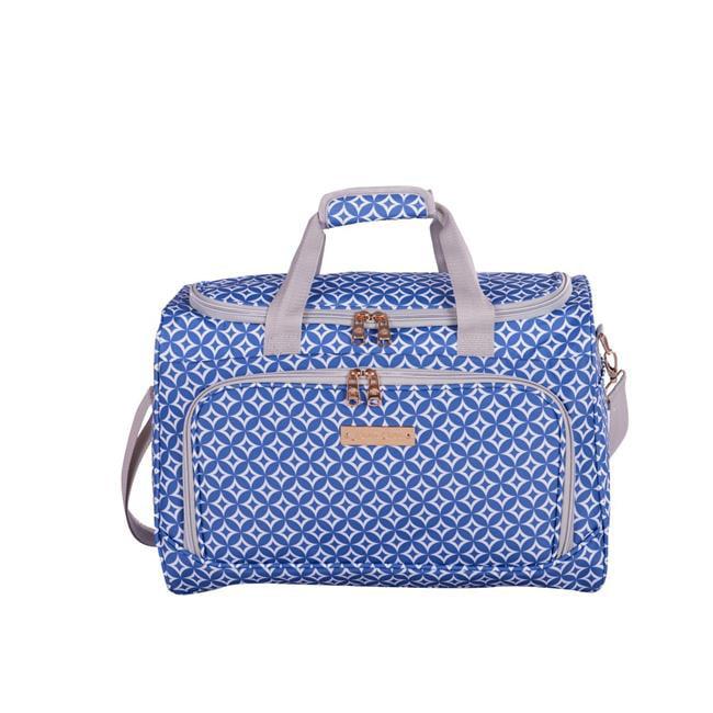 Jenni Chan 0160-17D-BLU 17 in. Aria Stars Duffel Bag, Blue - image 1 of 1