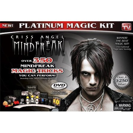 Platinum Magic Kit, Black, Criss angel mindfreak platinum magic kit - amaze your friends and family with mind-blowing illusions by tv's talented.., By Criss Angel - Magic Kit