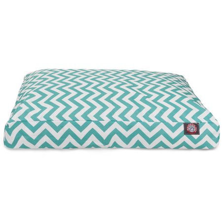 Majestic Pet Rectangle Dog Bed - Teal Chevron - Small