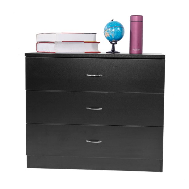 "3 Drawers Dressers for Bedroom, Compact Bedroom Side Table Bedside Table, MDF Wood Storage Drawers, Night Stands, Storage Cabinet for Bedroom, Living Room, Capacity of 180 lbs, 26"" x 13"" x 22"", Q2882"