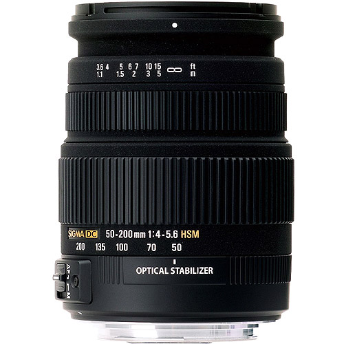 Sigma - Telephoto zoom lens - 50 mm - 200 mm - f/4.0-5.6 DC OS HSM - Nikon F