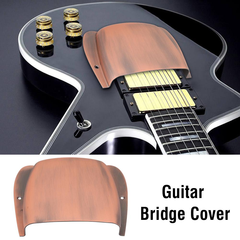 Guitar Bridge Cover,134 * 126 * 27mm Durable Alloy Bridge Cover Protector Replacement Parts for JB Bass Guitar Bridge Cover for JB Bass