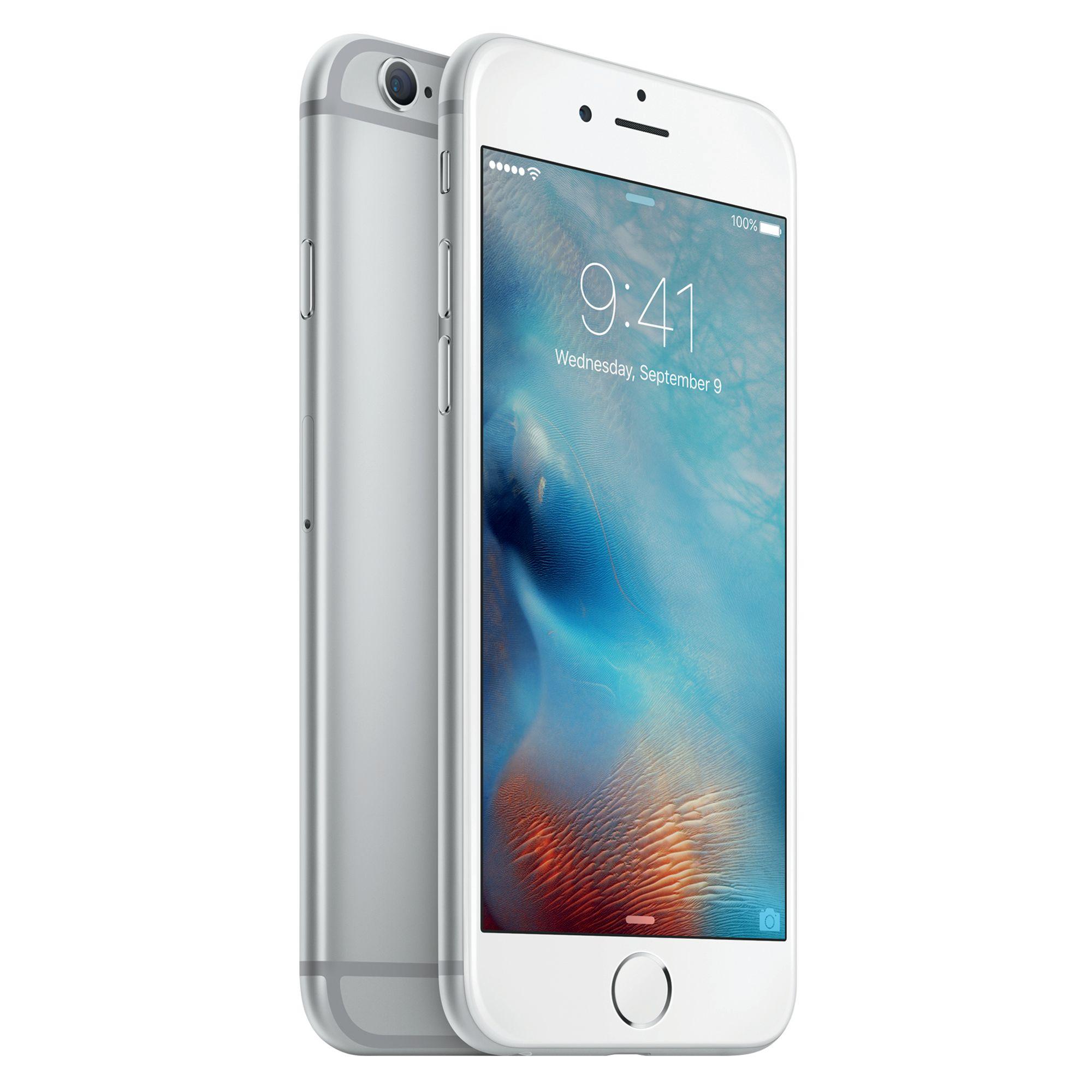 Refurbished Apple iPhone 6 Plus 16GB, Silver - Straight Talk
