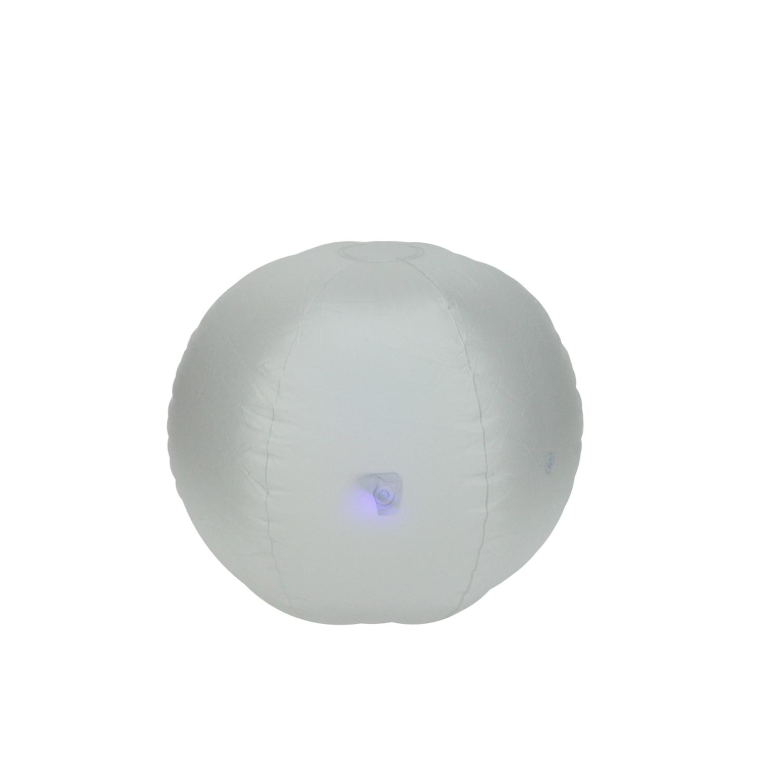 "16.5"" LED Lighted Inflatable Beach Ball Swimming Pool Toy by Pool Central"