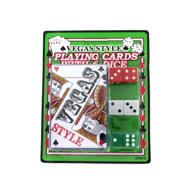 Vegas style playing card with dice - Pack of 24