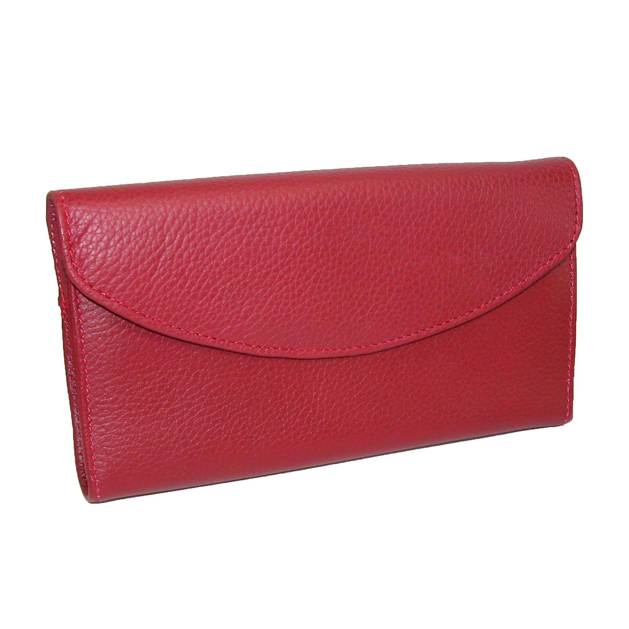 DOPP  Women's Leather Roma Checkbook Clutch Wallet