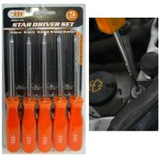 5 Piece Torx Screwdriver Set Star Driver Precision Tool Repair Magnetic Tip New