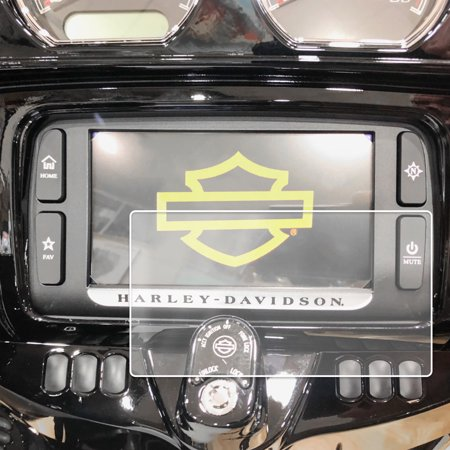 - 2014-2018 Compatible with Harley Davidson Street Glide Boom Box Motorcycle Screen Saver Custom Fit Invisible High Clarity Touch Display Protector Minimizes Fingerprinting 6.5 Inch