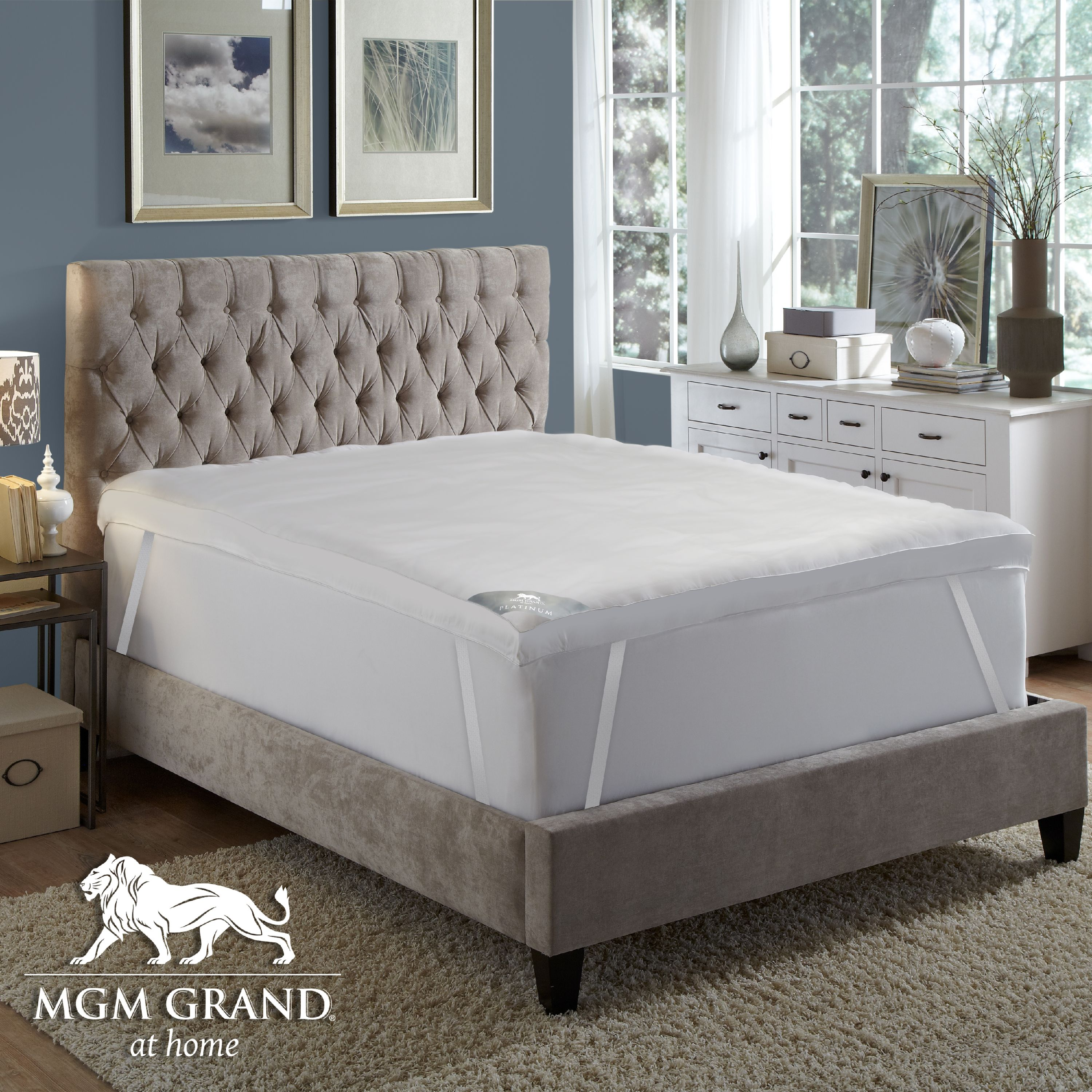 "MGM GRAND at home Platinum Collection 5"" Featherbed Queen"