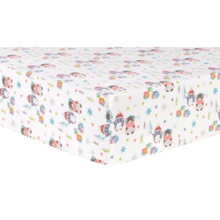 Trend Lab Deluxe Flannel Fitted Crib Sheet - Winter Wishes
