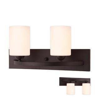 Light Bath Bar Fixture - Oil Rubbed Bronze 2 Globe Vanity Bath Light Bar Interior Lighting Fixture