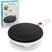 CucinaPro Cordless Crepe Maker with Recipe Guide - 1447, 100% Non-Stick Surface