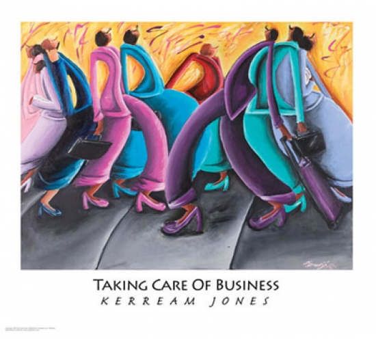 Taking Care of Business Poster Print by Kerream Jones (26 x 20)
