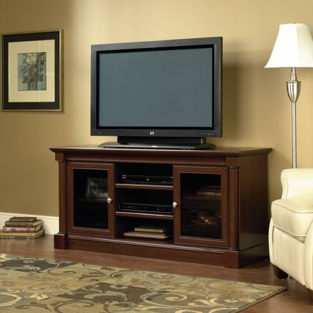Sauder Palladia Entertainment Credenza for TV's up to 60″, Cherry Finish
