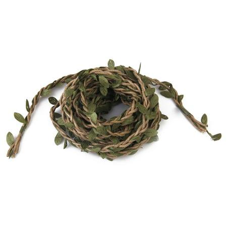 10m Handmade DIY Arts Garland Rattan Foliage Green Leaves Rattan Wreath for Home Wall Garden Party Décor - Diy Halloween Wreath